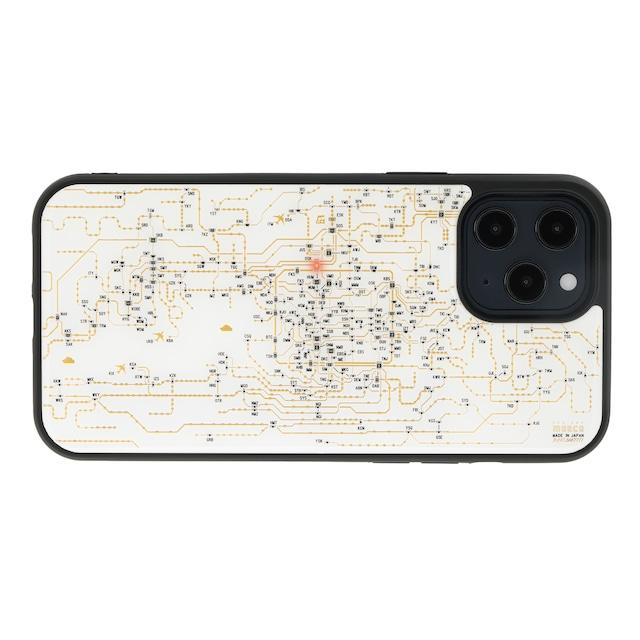 FLASH 関西回路線図 iPhone 12 Pro Max ケース  白【東京回路線図A5クリアファイルをプレゼント】