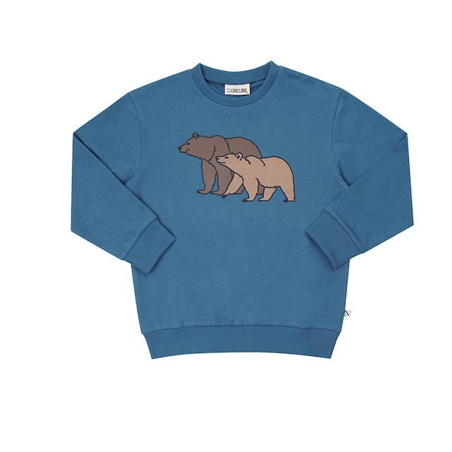 【21AW】カーラインク(CARLIJNQ)Grizzly sweater wt print くま スウェット
