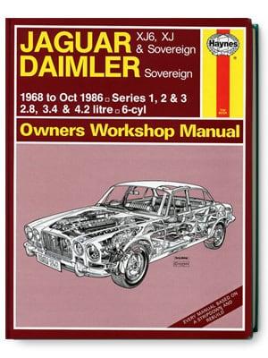 ジャガー・XJ6、XJ&ソブリン・ダイムラー ソブリン・オーナーズ・ワークショップ・マニュアル