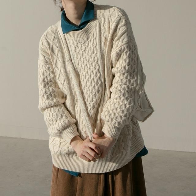 Twist retro sweater(ツイストレトロセーター)a-920