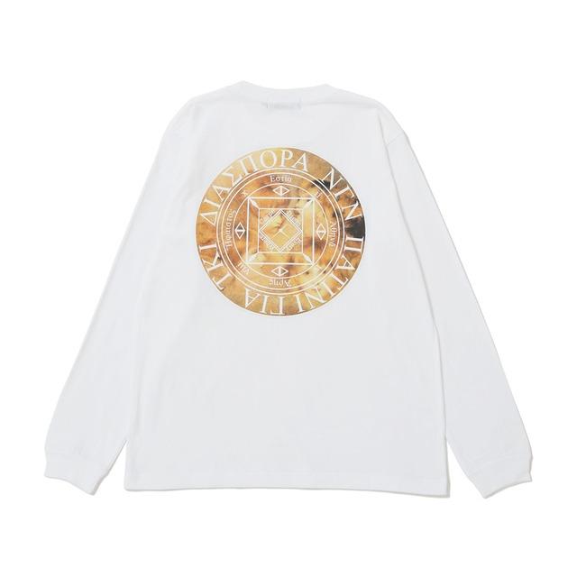 DIASPORA SKATEBOARDS  CHORUS MAGIC CIRCLE L/S TEE WHITE