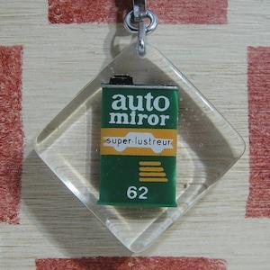 フランス auto miror 62[オート ミラー 62]超ガラス化ポリッシュ缶 広告ブルボンキーホルダー