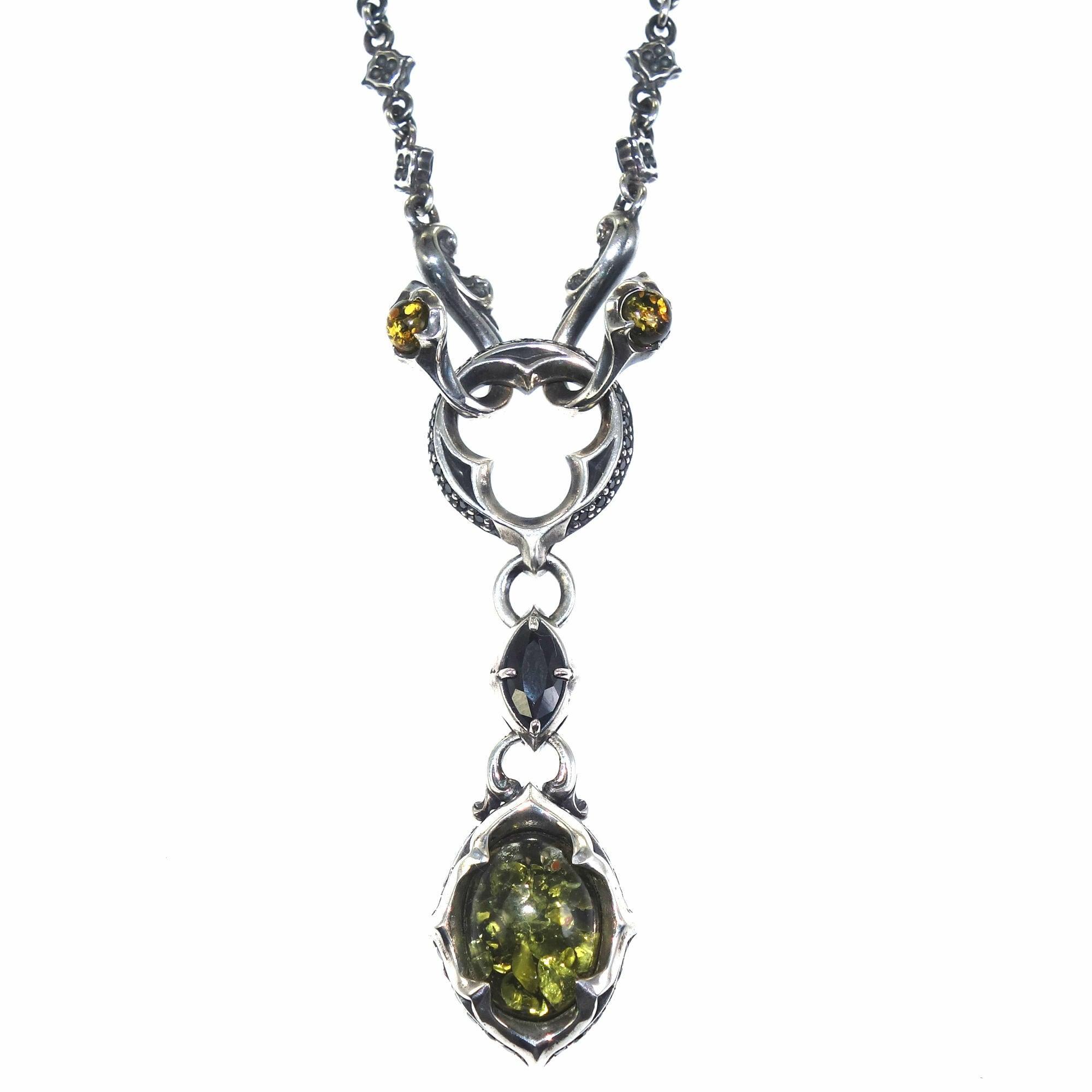 トレサリーグリーンアンバーペンダント ACSP0022 Treasury Green Amber Pendant