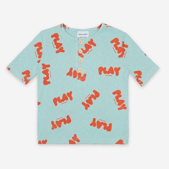 BOBOCHOSES Play All Over Buttoned T-Shirt