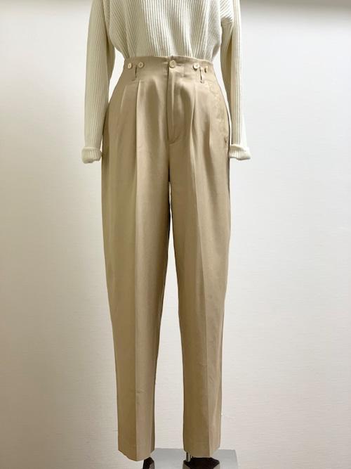 Vintage Silk Twill Trousers
