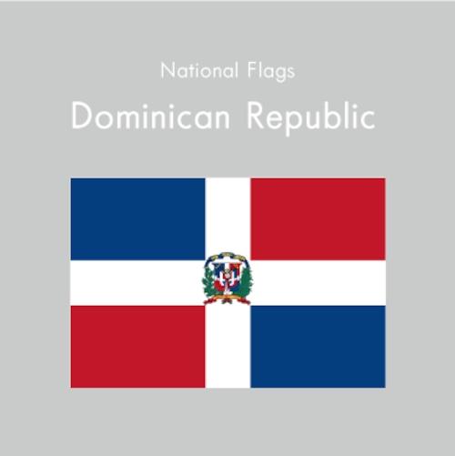 国旗ステッカー ドミニカ共和国