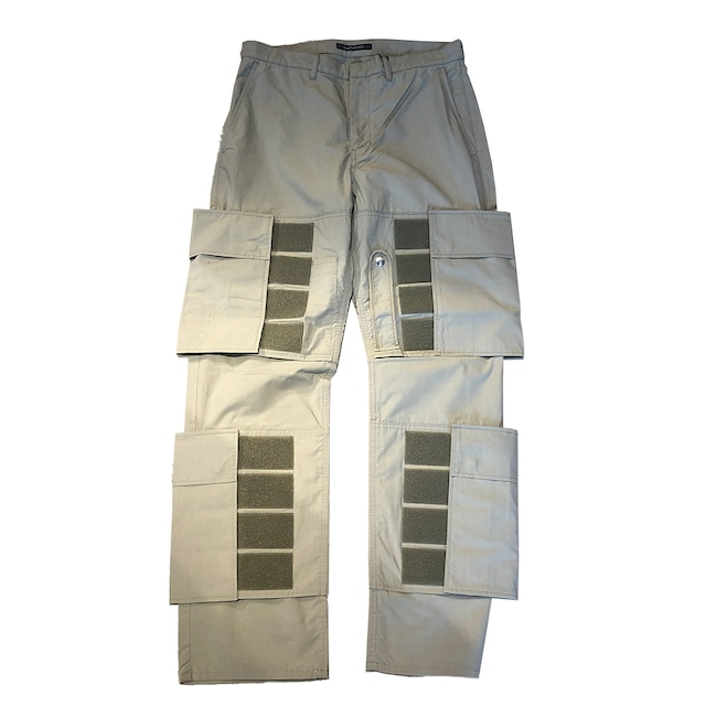 ALMOSTBLACK Taped Cargo Trousers