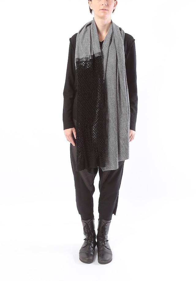 [着るストール]DRESS SCARF【WOOLウール】ドレススカーフ  千鳥/ヘリンボン 2116[送料/税込]