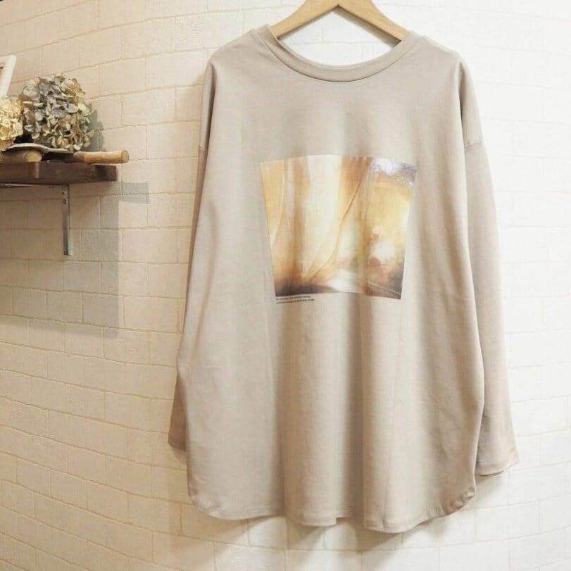 【SALE】2way long sleeves T-shirt  <beige>