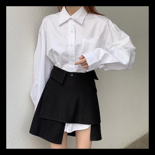 【お取り寄せ】ロングブラウス 変形スカート セット