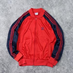 """80年代 """" adidas """" アディダス USA製 ATP KEYROLAN ジャージ トラックジャケット L 赤 古着 b128"""