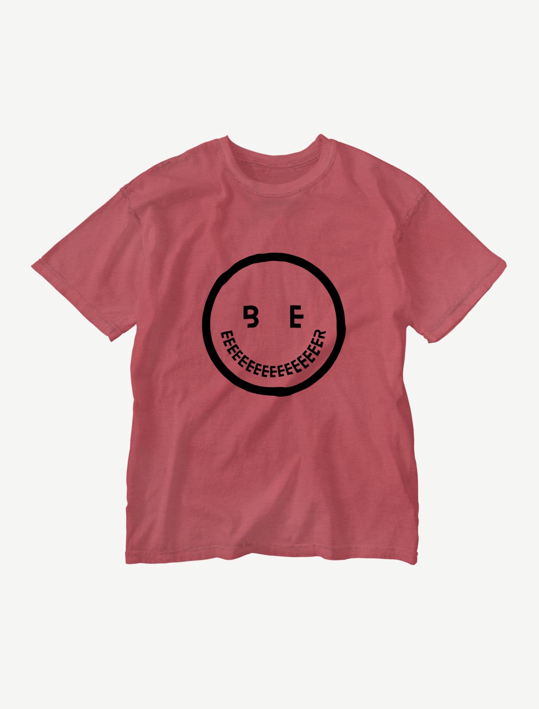【smile】ウォッシュTシャツ(クリムゾンレッド)