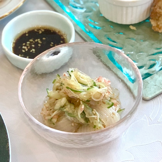 海藻こんにゃくの中華和え