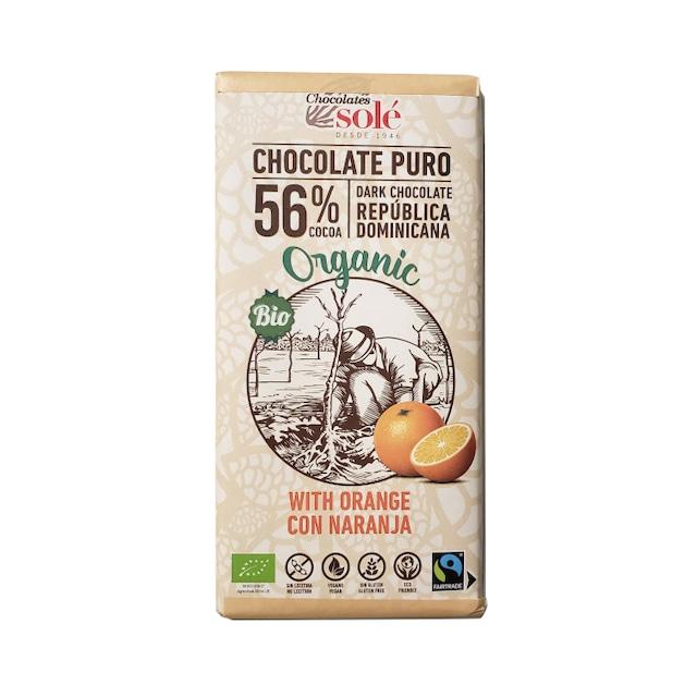 Chocolate Sole オーガニック ダークチョコレート56% オレンジ 100g チョコレートソール 有機[宅急便]