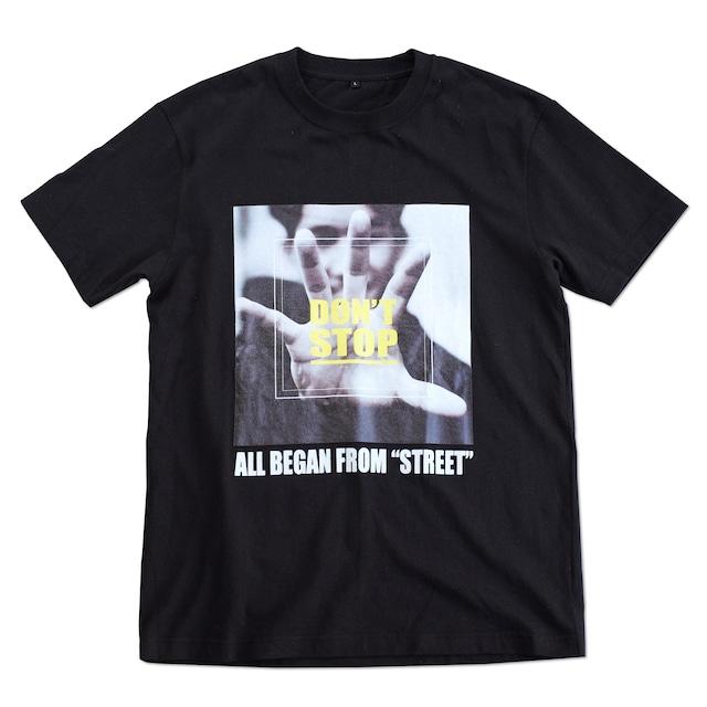 応援Tシャツ.TS02 Black