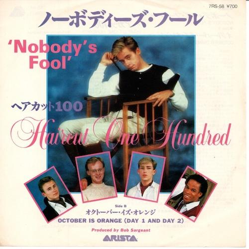 【7inch・国内盤】ヘアカット100 / ノーボディーズ・フール