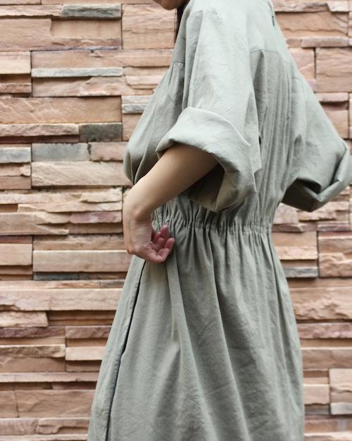 Low turtle neck dress