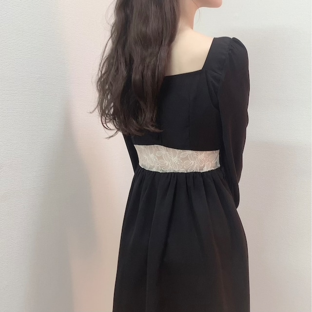 Heart neck doll dress