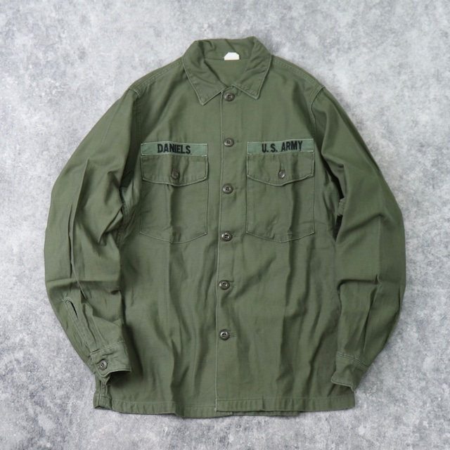 1960s   U.S.ARMY   Utility  Shirts   OG107   M b253
