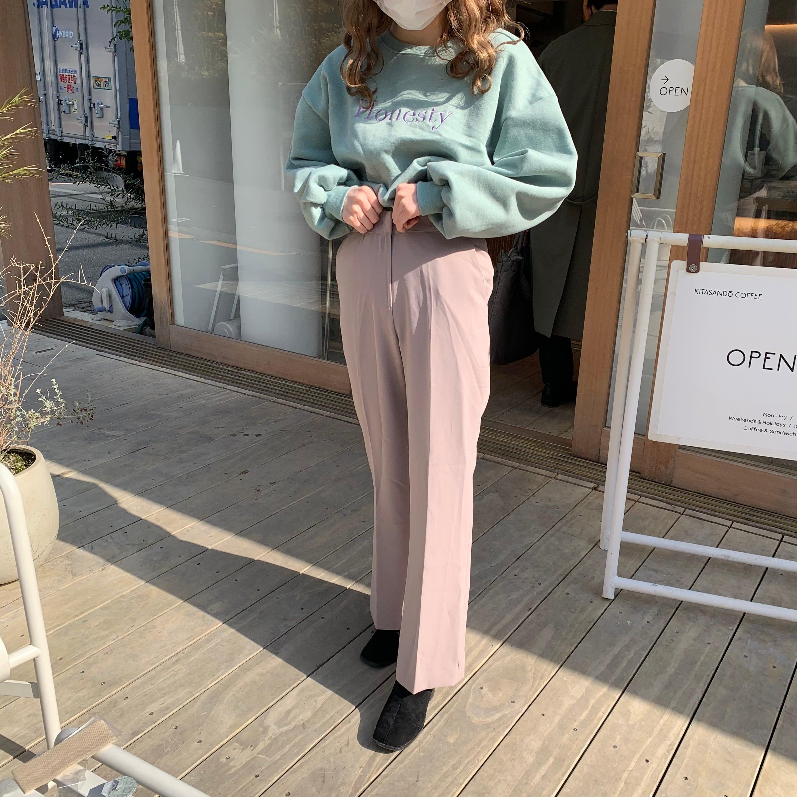 pastel color slacks