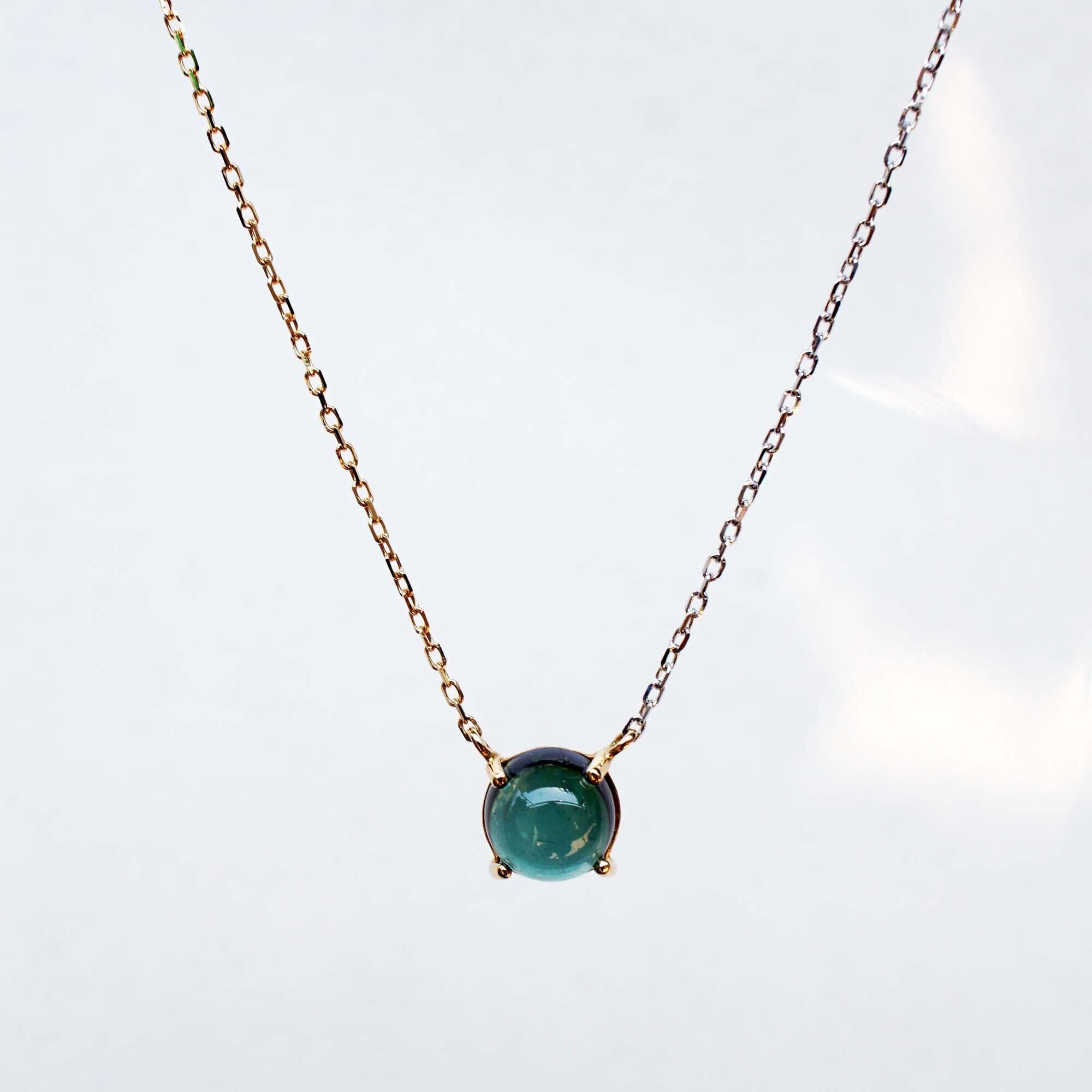 Green Tourmaline Necklace(N168-GT)
