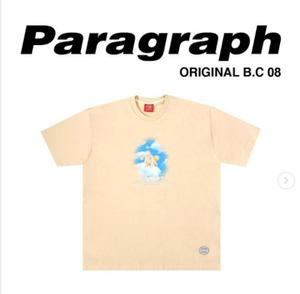 【PARAGRAPH】ベビープリントTシャツ:ベージュ