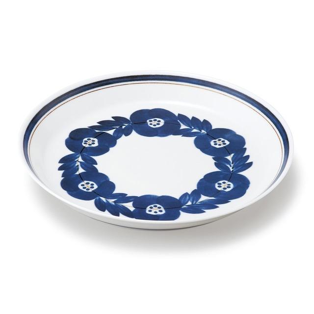 aito製作所 「ブロッサム blossom」青い花のうつわ プレート 大皿 23cm 美濃焼 111001