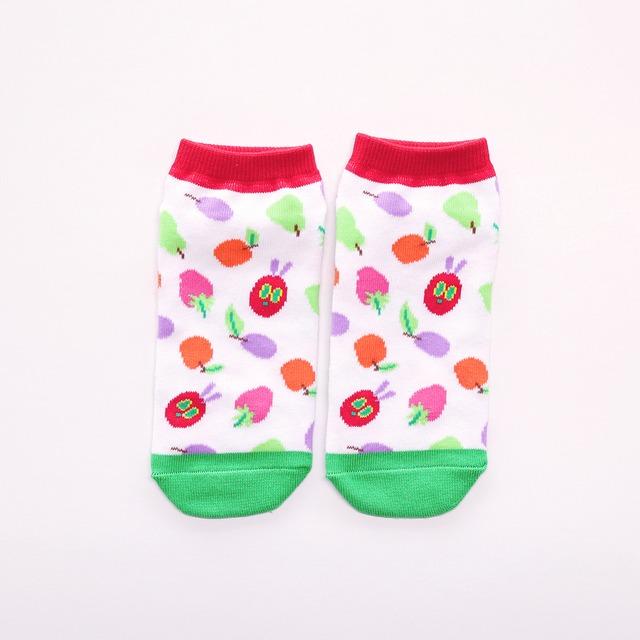 靴下 レディース/フルーツ 【はらぺこあおむし】【絵本のくつした】