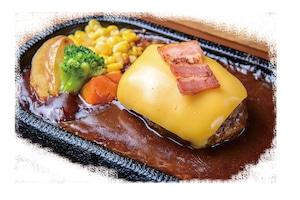 【ラルコーン】ダブルチーズハンバーグ弁当