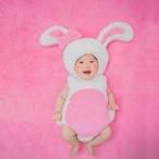 【即納】【ベビーコスプレ】 赤ちゃん 衣装 仮装 コスチューム【うさぎ・ピンク】 S521