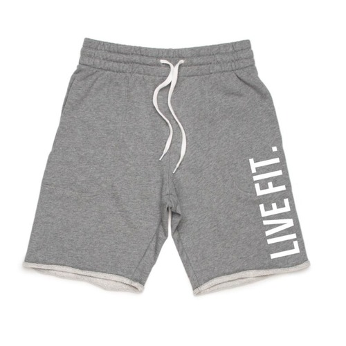 LIVE FIT French Terry Live Fit short - Heather grey