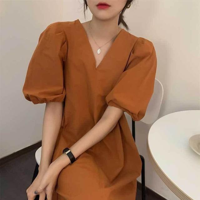 パフスリーブ ワンピース | ミニワンピース ミニスカート 韓国服