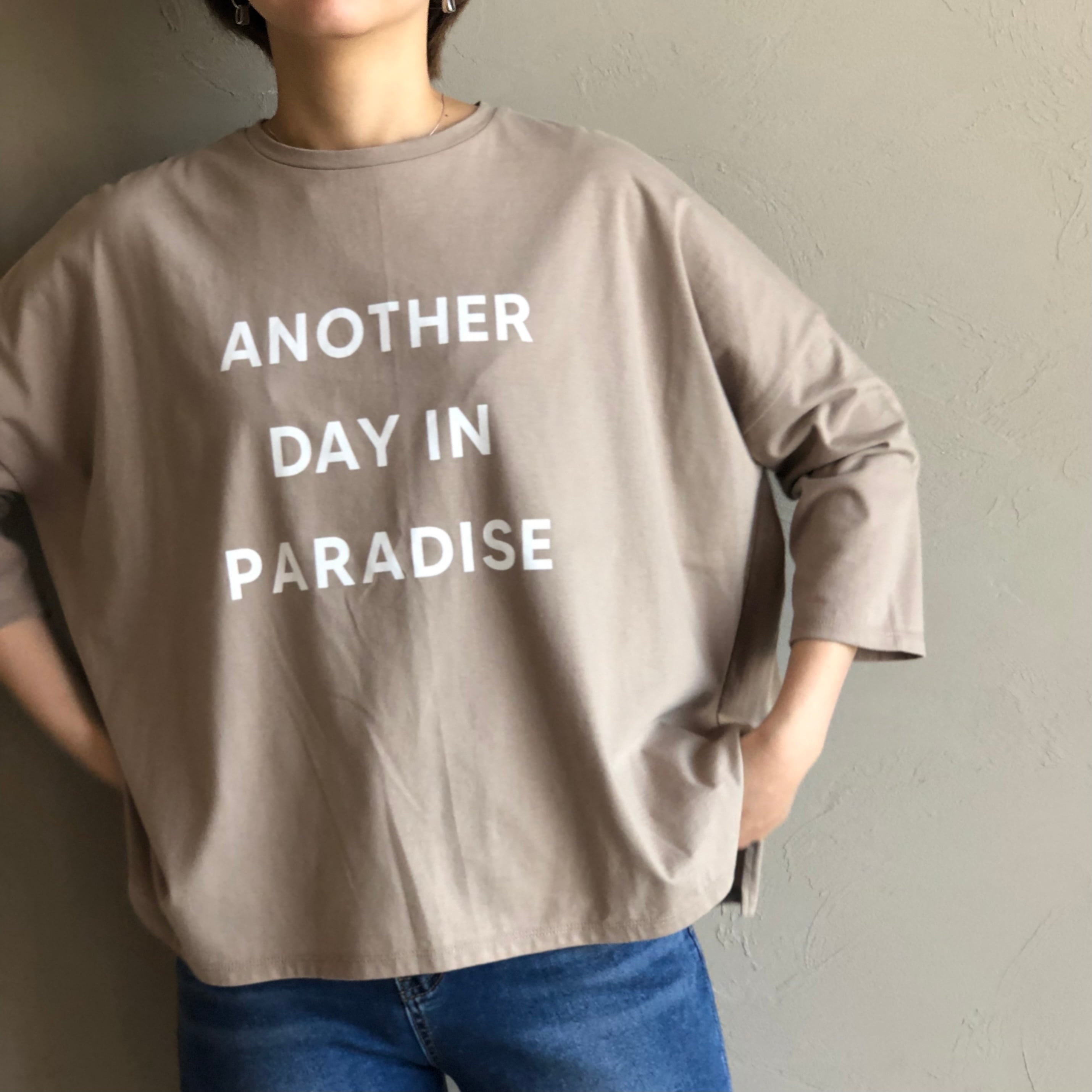 【 siro de labonte 】- R143212 - 30/- highgauge cotton プリントプルオーバー(ANOTHER DAY IN PARADISE)