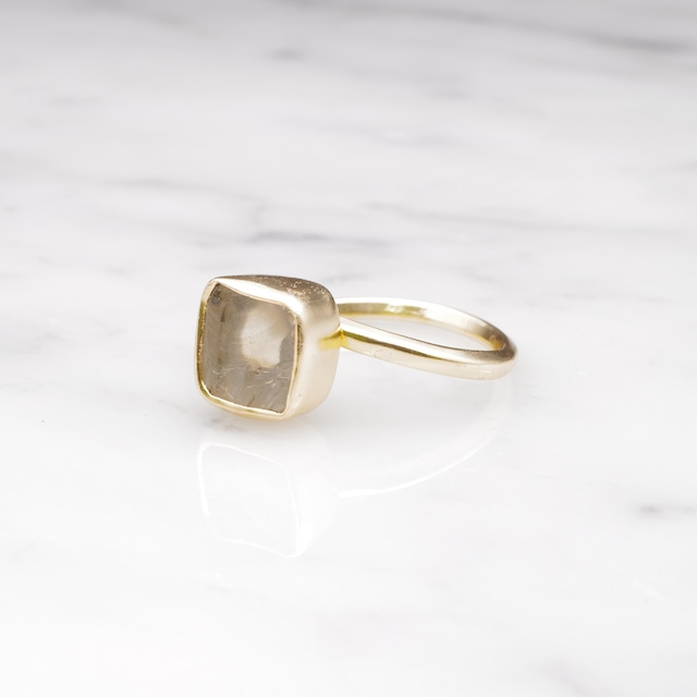 ROUGH STONE RING GOLD 018