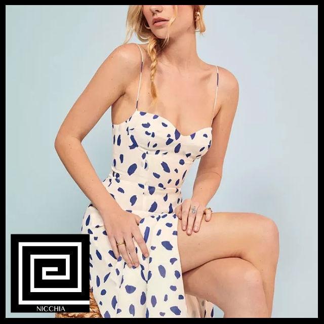 ヴィンテージサイドスプリットサマードレス
