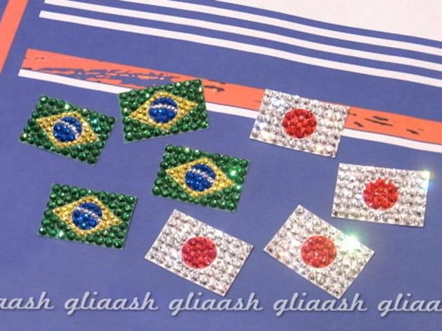 オリンピック応援しよう!クリスタル国旗シール
