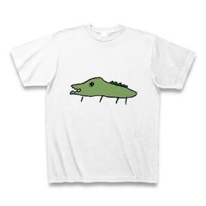 ヘタウマなワニイラストのTシャツ