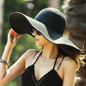 麦わら帽子 UVカット帽子 UVハット つば広 レディース 海 ビーチ 紫外線 対策 日よけ帽子 日焼け防止  折りたたみ帽子5604