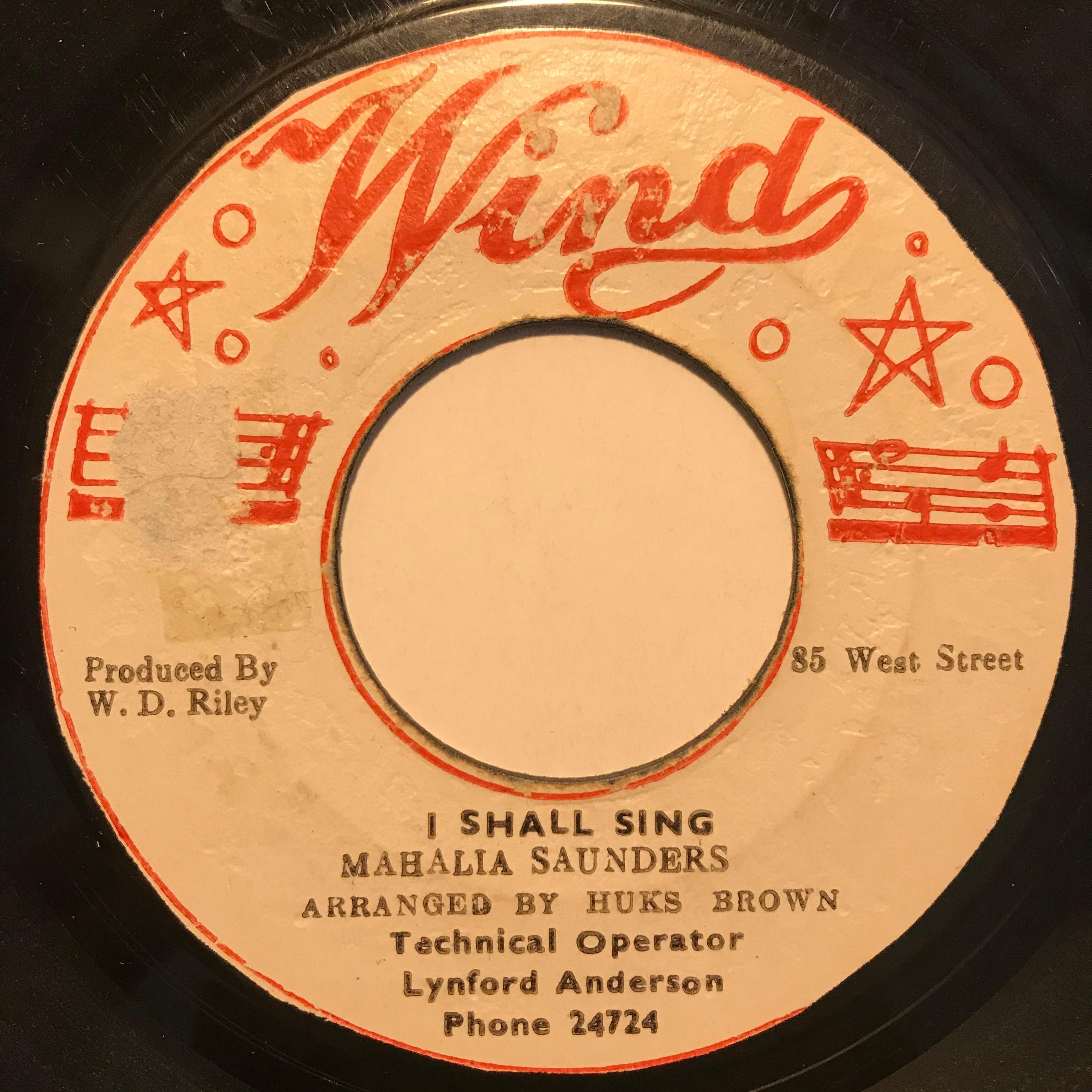 Mahalia Saunders (Hortense Ellis) - I Shall Sing【7-10814】