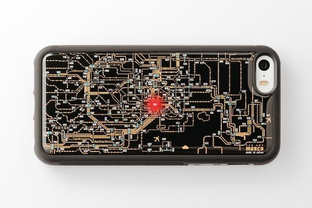 FLASH 東京回路線図 iPhone SE(第1世代)/5/5s ケース 黒【東京回路線図A5クリアファイルをプレゼント】