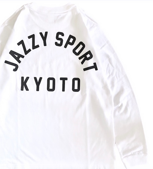 【残りわずか】JS Kyoto カレッジ ロゴ ロンT/ホワイト