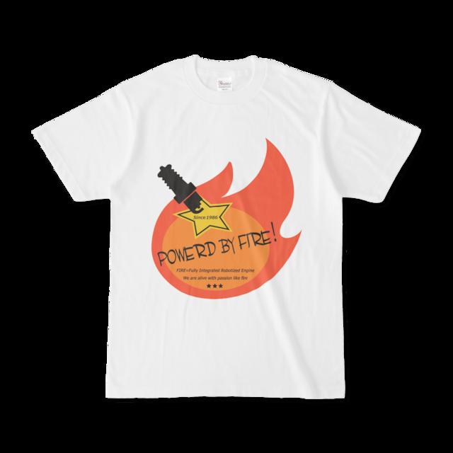Powerd by fire デザインTシャツ(オレンジ)