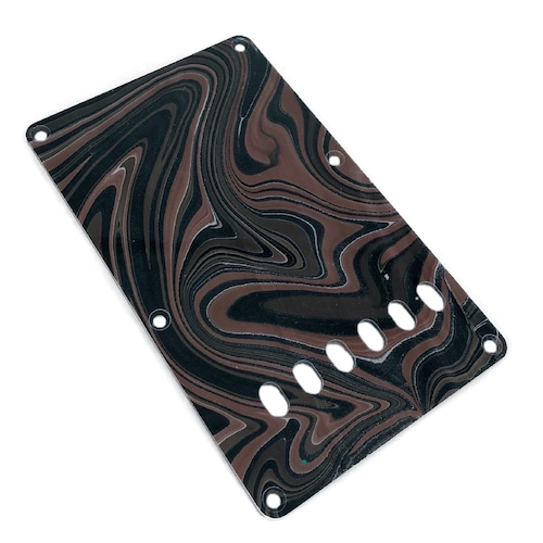 VARIOUS MARBLEIZED PICK GUARD SERIES - ST-type  Only One Design - ギター用マーブルバックプレート stba1-1