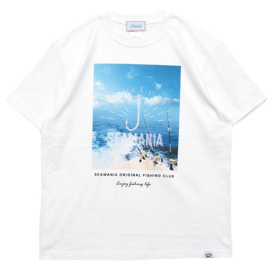 【Seamania】オーシャンフォトTシャツ[WHT]