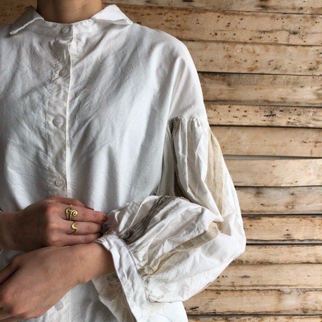 Topanga Lady's ボリュームバルーンスリーブシャツ ホワイト
