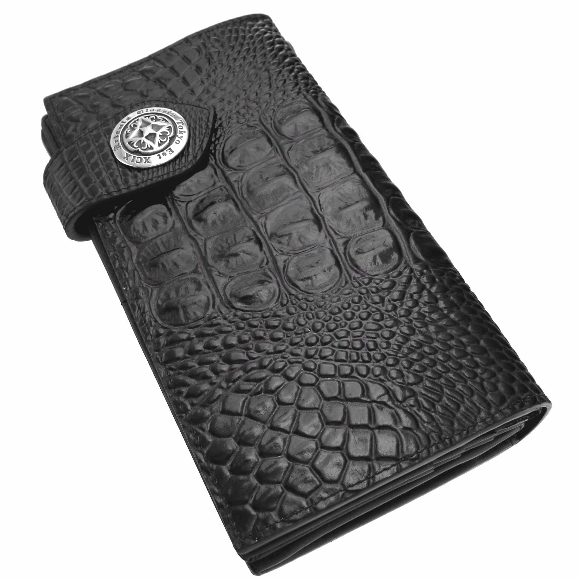 アンティークロングウォレット(クロコスタイルミッドナイトパープル) ACW0002 Antique long wallet (croco style midnight purple)