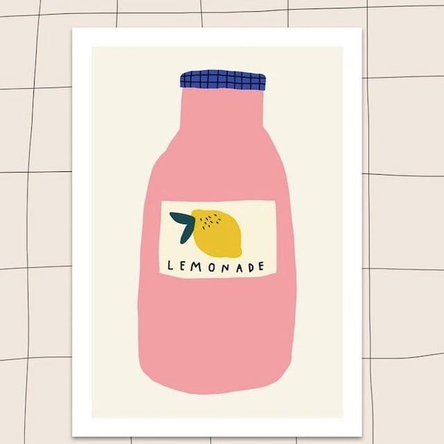 """Jennifer Bouron """"Lemonade"""" A5 print"""