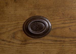 飴釉 オーバル豆皿(小皿・お茶請け皿・取り皿・醤油皿)/くるり窯