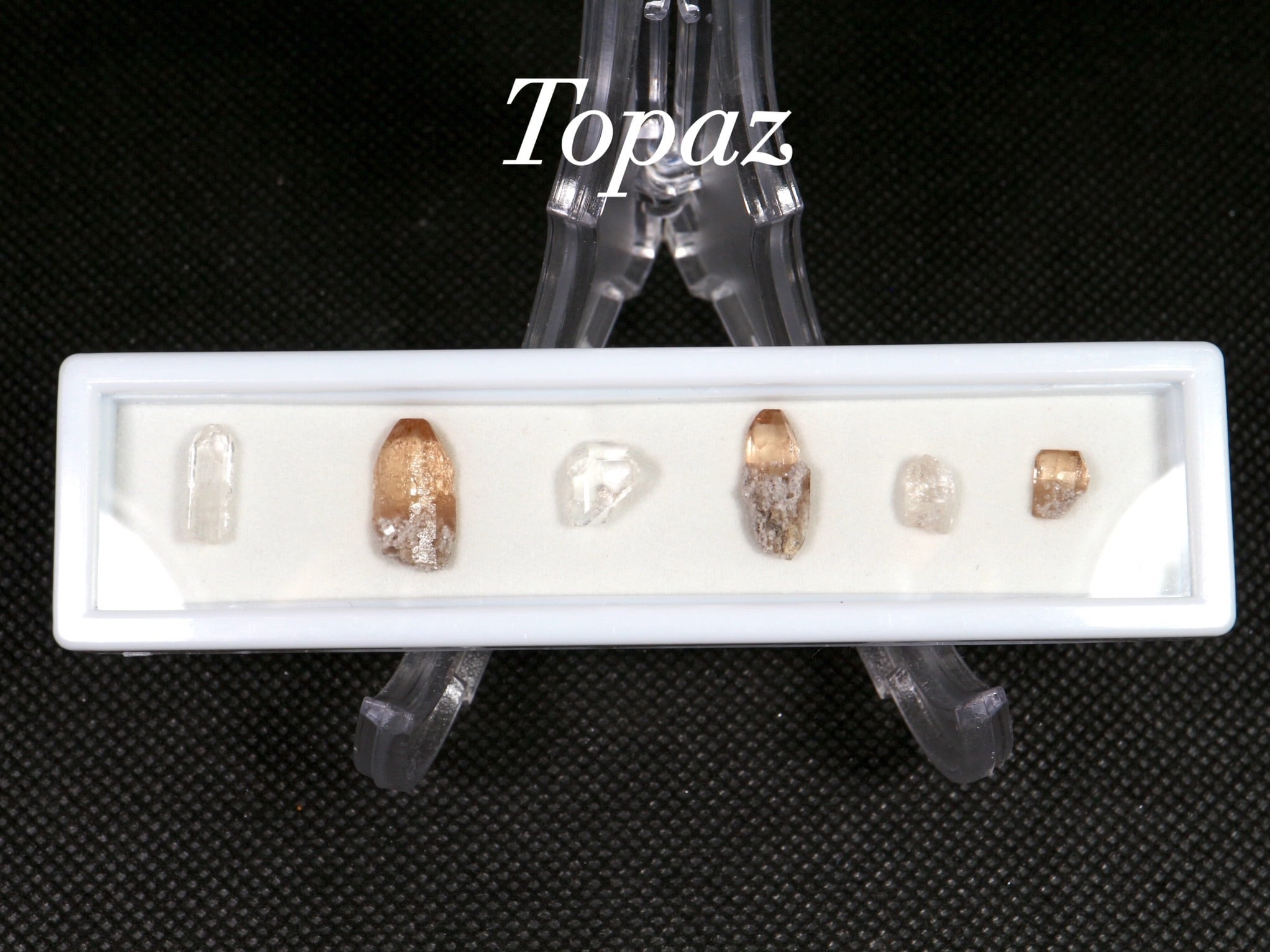 【鉱物標本セット】トパーズ ユタ州産 ラクタングル#8 原石 宝石 天然石 TZ058 鉱物セット