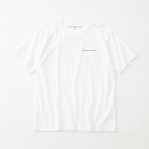BLURRED WM LOGO PRINTED T-SHIRT  - WHITE